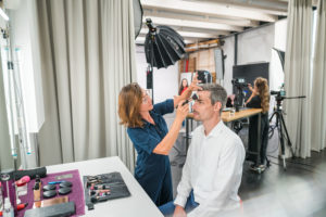 Heller Make Up und Styling Bereich im Studio Totale in Wien